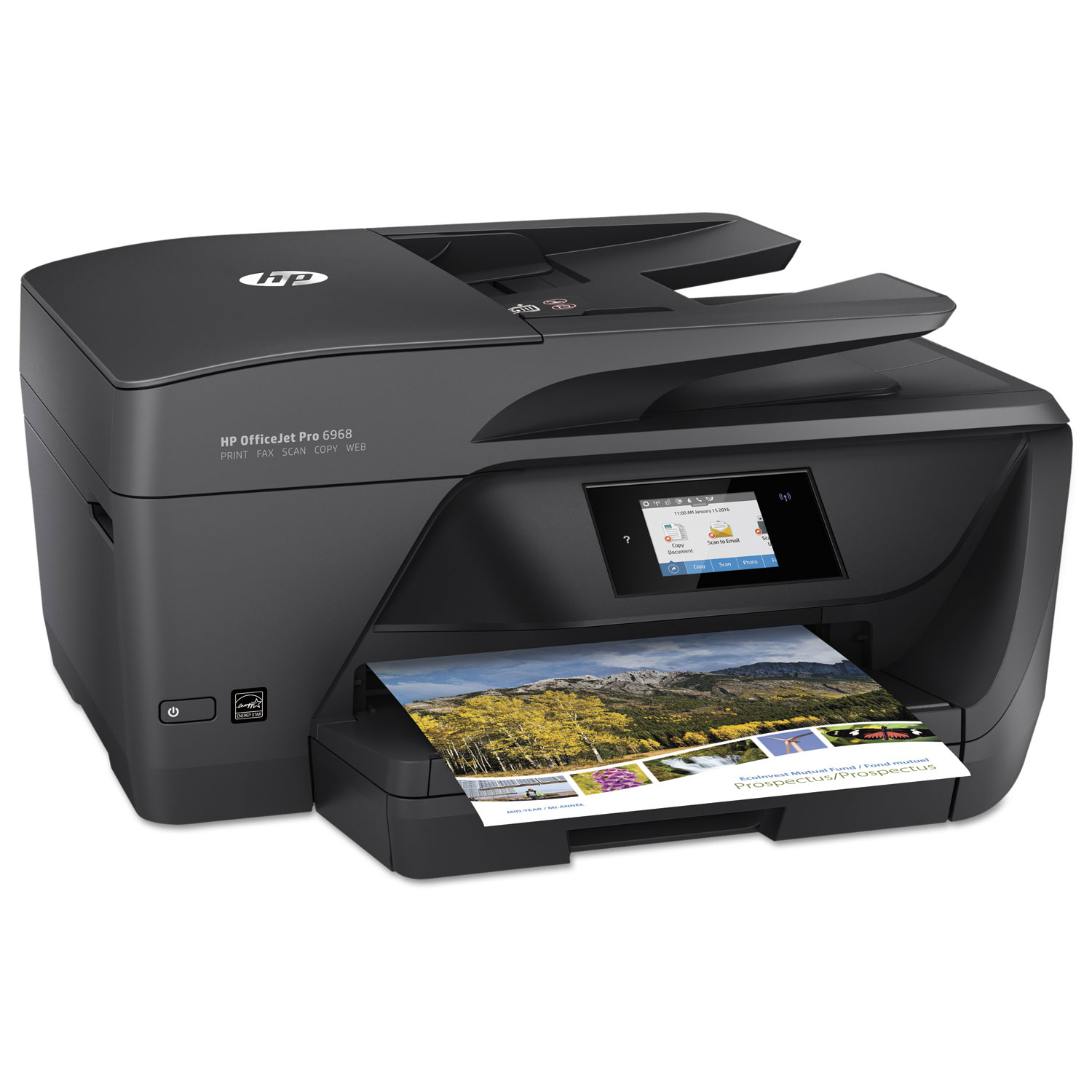 HP OfficeJet Pro 6968 All-in-One Printer, Copy/Fax/Print/Scan