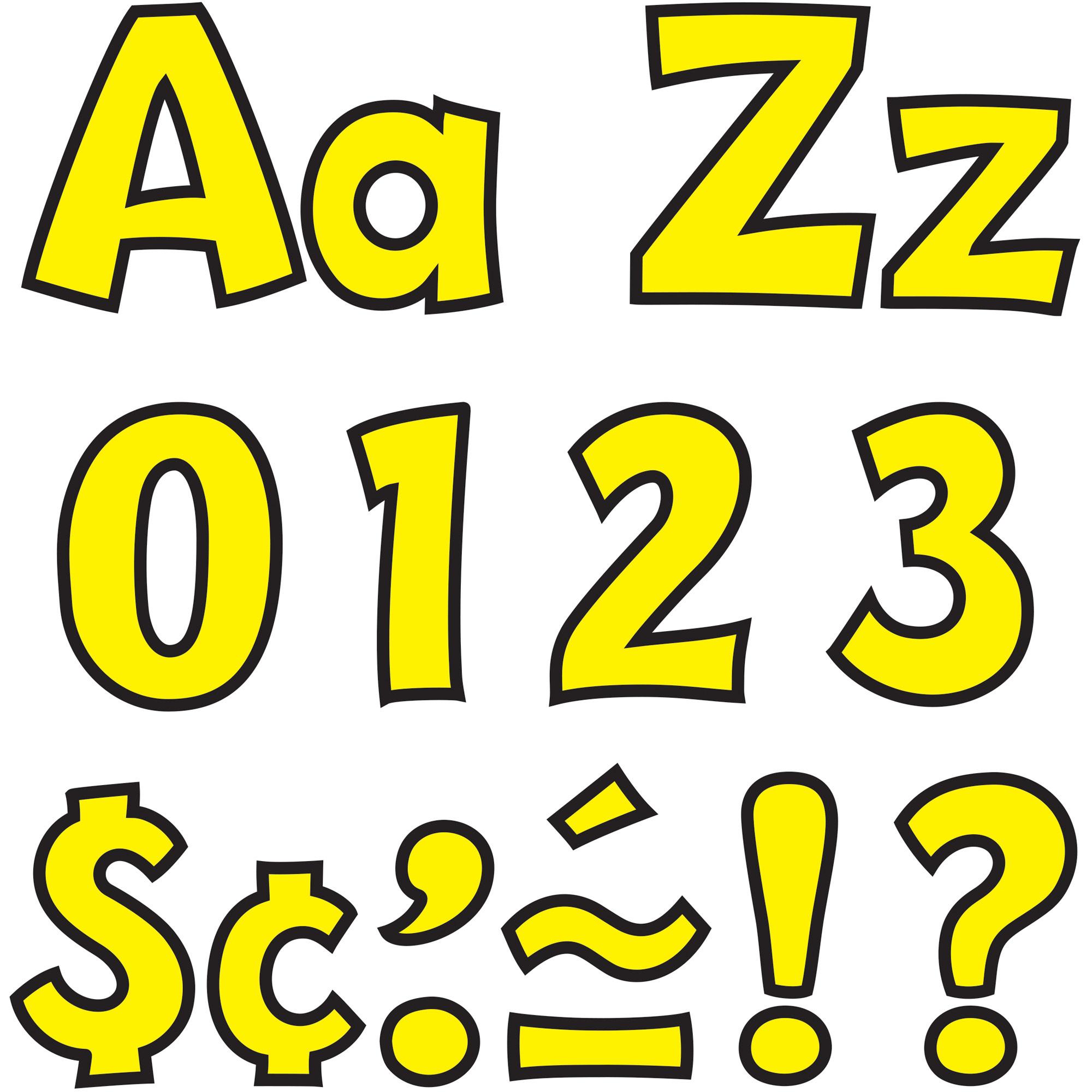 "TEP Ready Letters Playful Combo Set, Yellow, 4""""H, 216 Per Set - Trend Enterprises T79743"