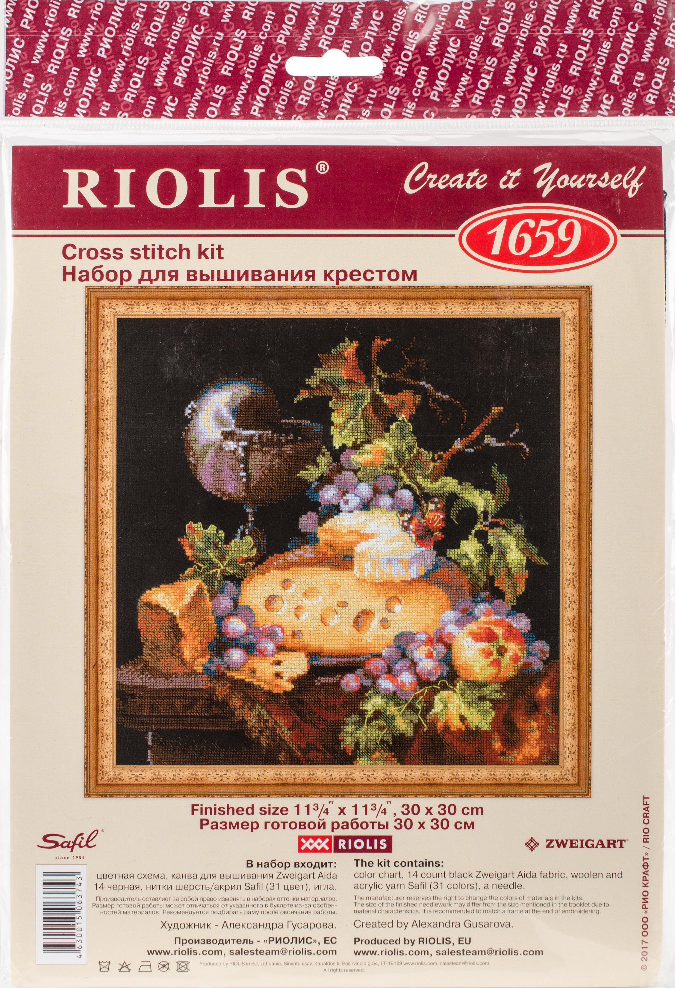 Dutch Still Life Counted Cross Stitch Kit -  RIOLIS, R1659