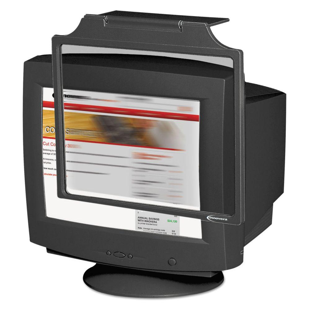 Innovera Privacy 17 CRT Monitor Filter, Antiglare/Antistatic/Antirad., Black