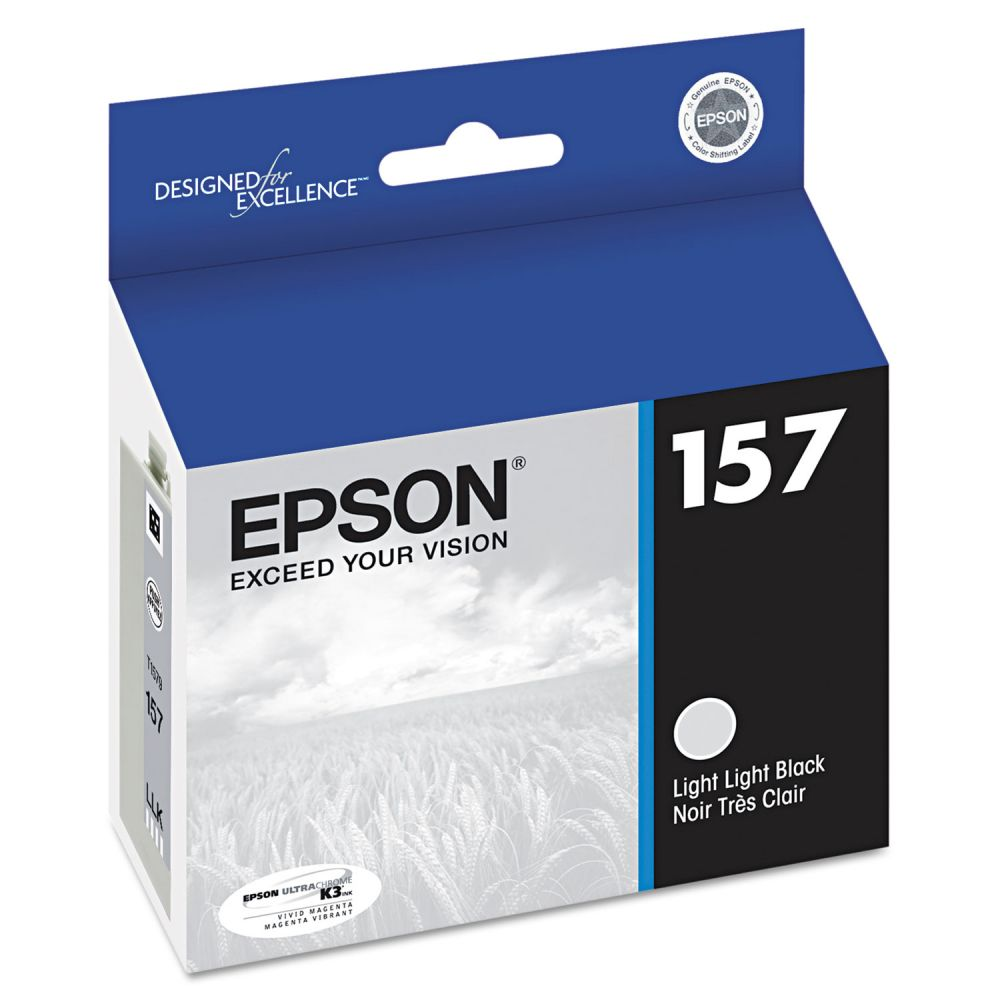 Epson T157920 (157) UltraChrome K3 Ink, Light Light Black