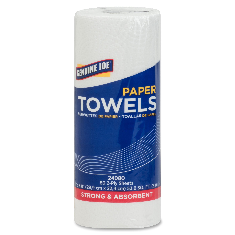 Genuine Joe Household Paper Towels, 8