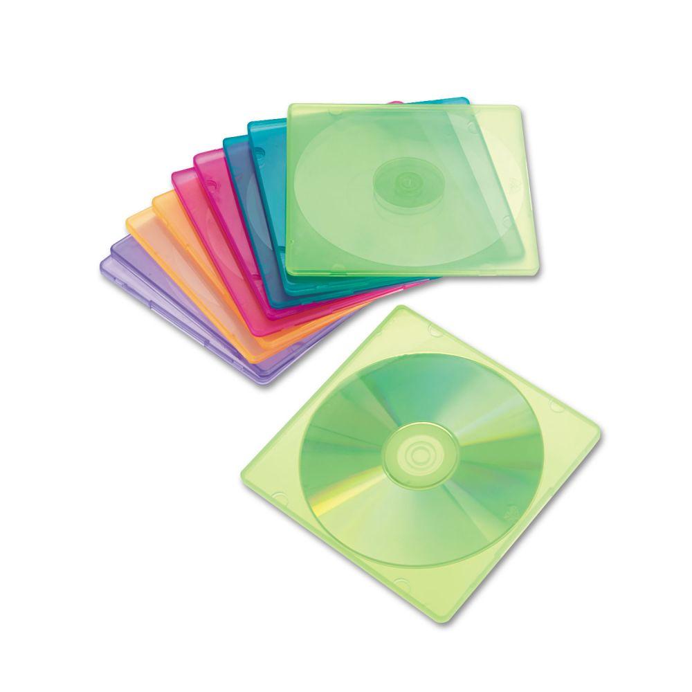 Innovera Slim CD Case Holds One CD, Polypropylene, 10 per Pack