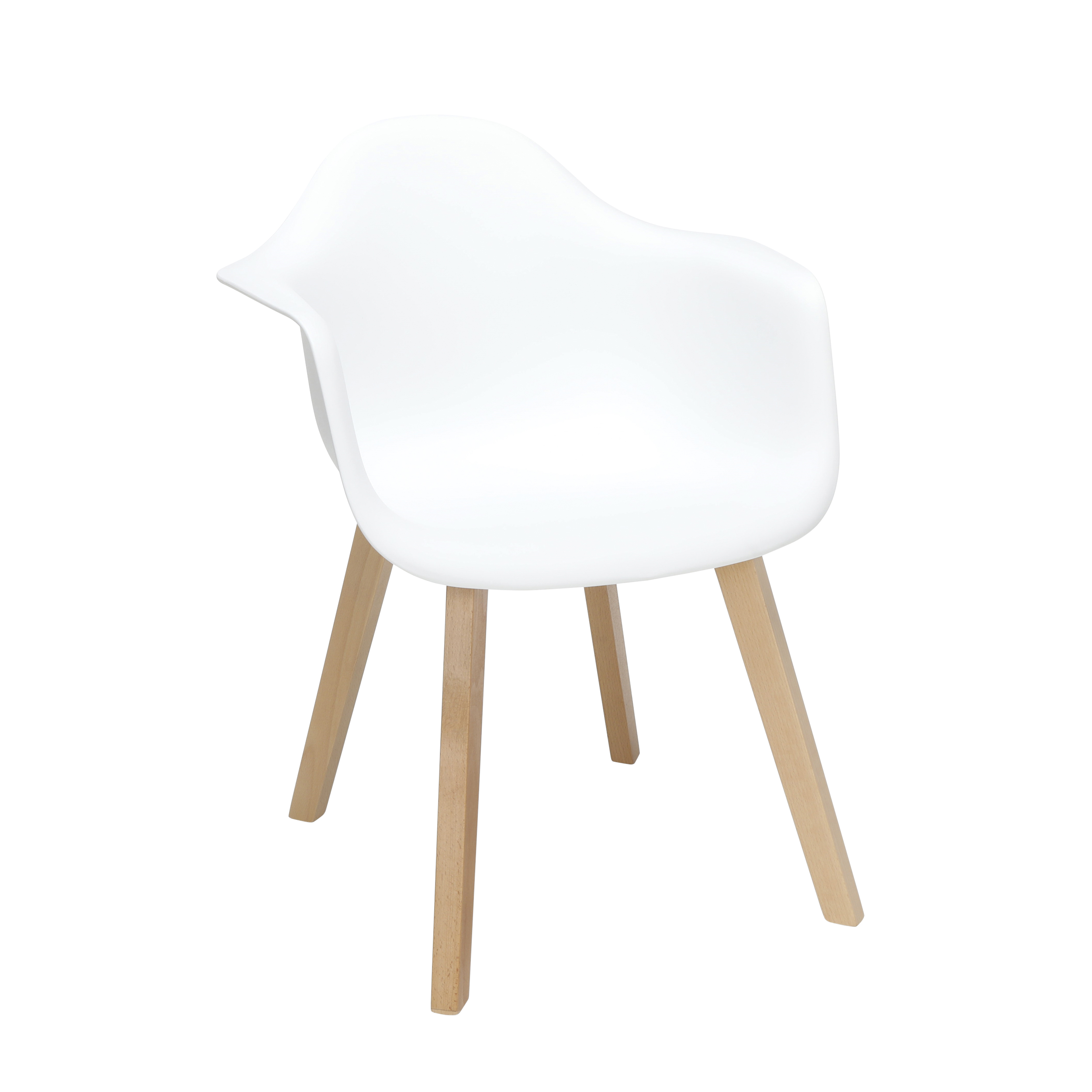 Fine Ofm 161 Collection Mid Century Modern Plastic Molded Accent Chairs With Arms Dining Chairs Solid Beechwood Legs 2 Pack In White 161 Pa18B Wht 2 Pabps2019 Chair Design Images Pabps2019Com