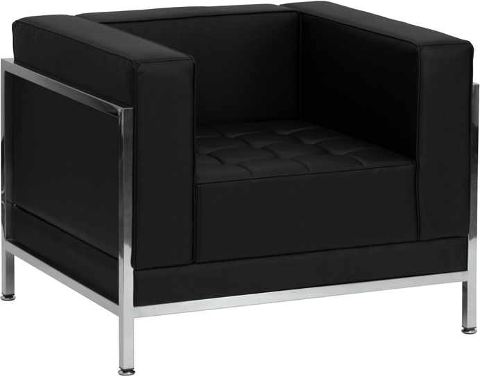 GET Flash Furniture Imagination Series Contemporary Black Leather Chair (ZB-IMAG-CHAIR-GG) NOW