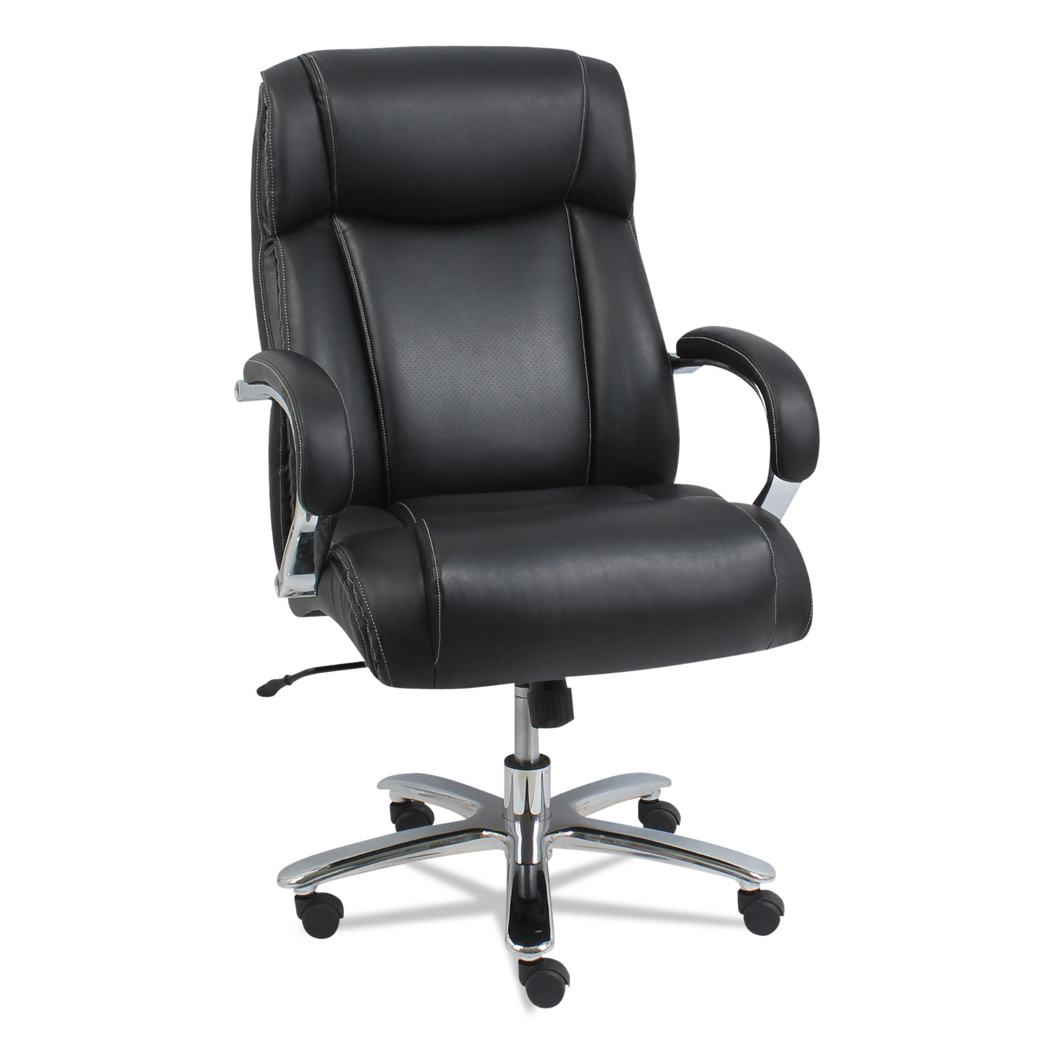 Alera Maxxis Series Big and Tall Leather Chair, Black ...