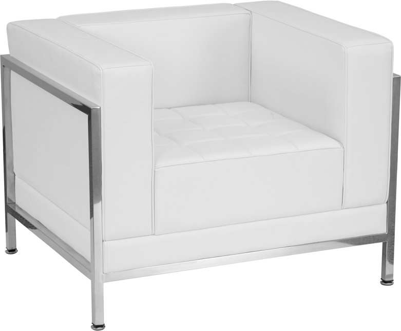 GET Flash Furniture White Leather Chair (ZB-IMAG-CHAIR-WH-GG) NOW
