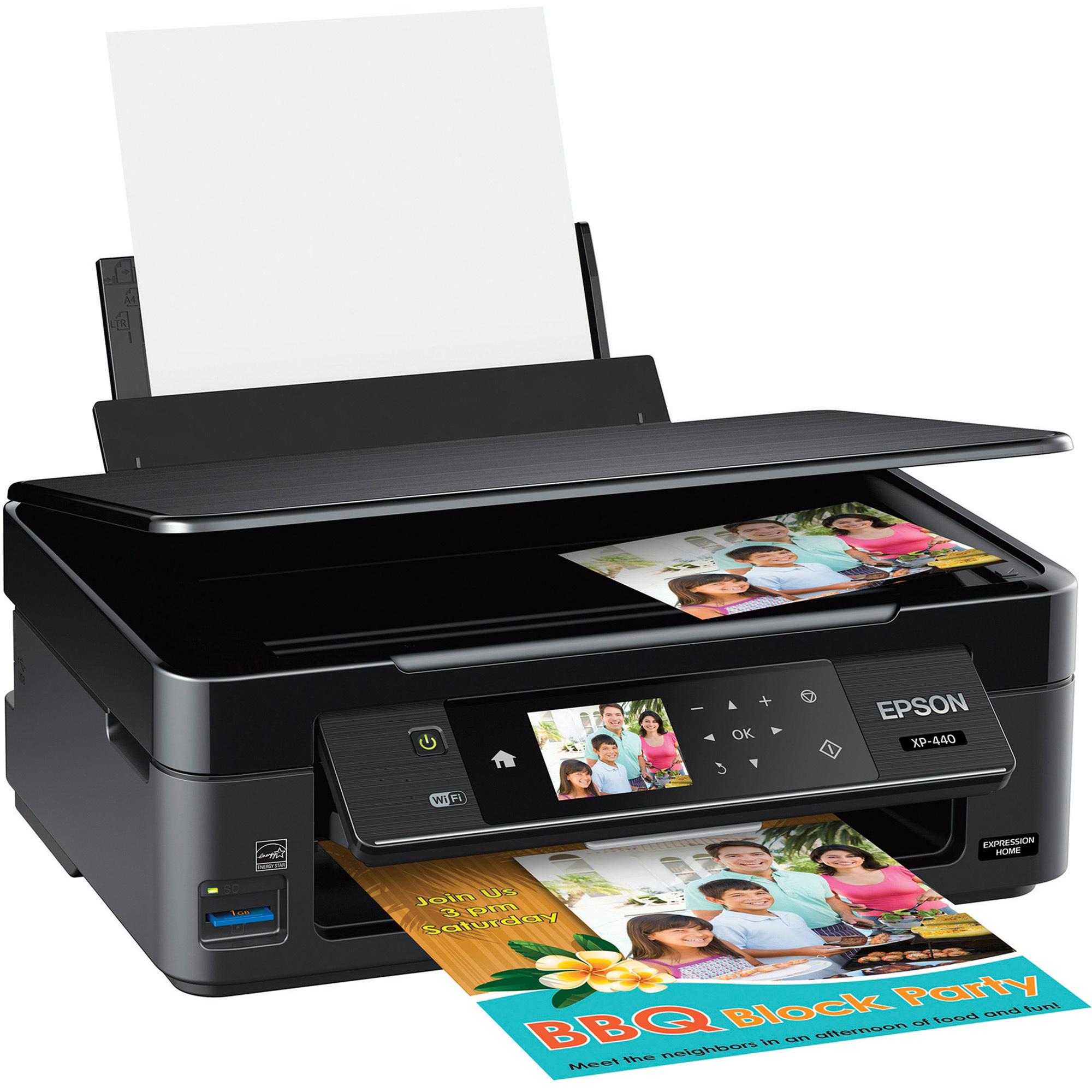 Epson Expression Home XP-440 Inkjet Multifunction Printer - Color - Plain Paper Print - Desktop