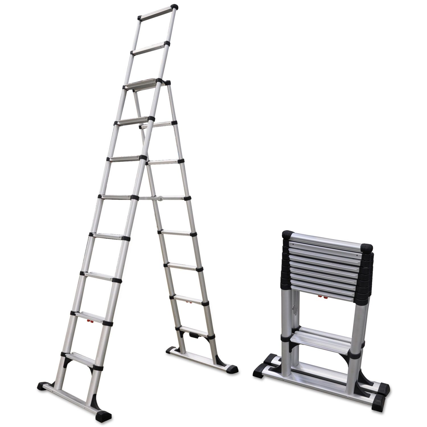 Telesteps Telescopic A Frame Ladder 14 Ft 375lb 8 Step
