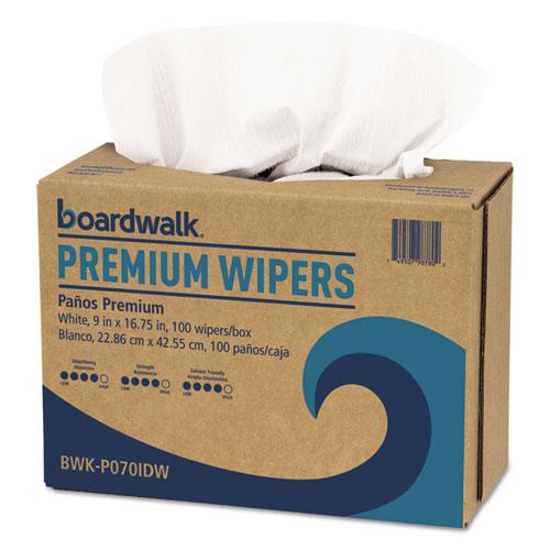 """BWK Hydrospun Wipers, 9"""""""" x 16-3/4"""""""", White, 1000 Per Carton - BOARDWALK P070IDW"""