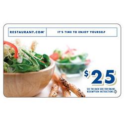 Free $25 Restaurant.com Gift Card