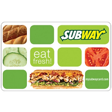 FREE $10 Subway Gift Card!