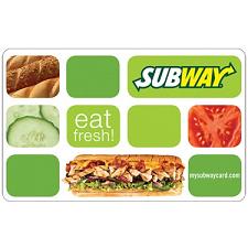 Free $10 Subway Gift Card