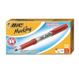 BIC Mark-it Gripster Fine Point Red Permanent Markers