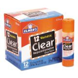Elmer's School Glue Stick, Clear, 8 g, 12/Pack