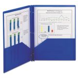 Smead Blue Plastic Two Pocket Folders with Fasteners