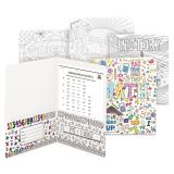 Smead Two-Pocket Coloring Folder, 11 x 8 1/2, School Subject Designs, 4/Pack