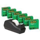 Scotch Magic Invisible Tape Refills & Deluxe Desktop Tape Dispenser