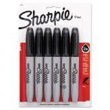 Super Sharpie Fine Point Black Permanent Markers