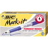 BIC Mark-it Gripster Fine Point Blue Permanent Markers