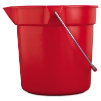 Rubbermaid Commercial BRUTE Round Utility Pail, 10qt, Red RCP2963RED
