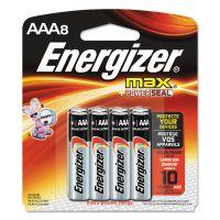 Energizer MAX Alkaline Batteries, AAA, 8 Batteries/Pack EVEE92MP8