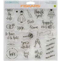 "Fiskars Lia Griffith 8""X8"" Stamps NOTM393194"