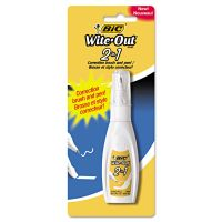 BIC Wite-Out 2-in-1 Correction Fluid, 15 ml Bottle, White BICWOPFP11