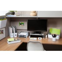 "Fusion 5-Compartment Desk Tray 12.25""X6""X2"" NOTM042004"