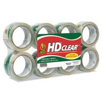 "Duck Heavy-Duty Carton Packaging Tape, 1.88"" x 55 yards, Clear, 8/Pack DUC282195"