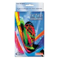 Alliance Brites Pic-Pac Rubber Bands, Blue/Orange/Yellow/Lime/Purple/Pink, 1-1/2-oz Box ALL07706