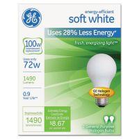 GE Halogen A-Line Bulb, A19, 100 Watts, 2/Pack GEL63005