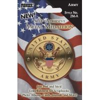"Military Self-Adhesive Metal Medallion 2"" NOTM413305"