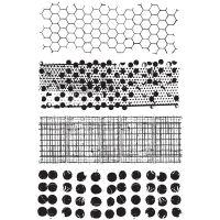 "Tim Holtz Cling Rubber Stamp Set 7""X8.5"" NOTM215573"