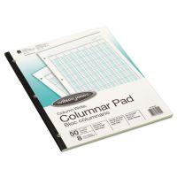 Wilson Jones Accounting Pad, Eight Six-Unit Columns, 8-1/2 x 11, 50-Sheet Pad WLJG7208A