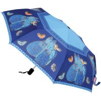 "Laurel Burch Compact Umbrella 42"" Canopy Auto Open/Close NOTM081075"