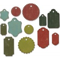 Sizzix Thinlits Dies By Tim Holtz 12/Pkg NOTM075762