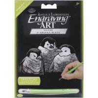 """Silver Foil Engraving Art Mini Kit 5""""X7"""" NOTM174384"""