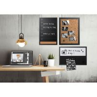 MasterVision Black & White Message Board Set, Assorted Sizes & Colors, 3/Set BVCSOR033