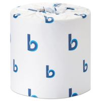 Boardwalk Office Packs Standard Toilet Paper, 2-Ply, White, 4 1/4 x 3 Sheet, 350 Sheets/Roll, 48 Rolls/Carton BWK6148