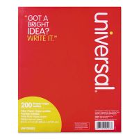 Universal Filler Paper, 8 1/2 x 11, Wide Rule, White, 200 Sheets/Pack UNV20923
