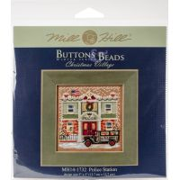 Police Station Buttons & Beads Counted Cross Stitch Kit NOTM052681