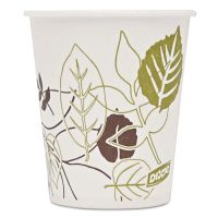 Dixie Pathways Wax Treated Paper Cold Cups, 5 oz, White/Green/Brown, 50/Pack DXE58WSPK