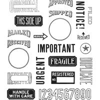 "Tim Holtz Cling Stamps 7""X8.5"" NOTM371473"