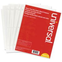 Universal Top-Load Poly Sheet Protectors, Letter, Heavy Gauge, Nonglare, Clear, 50/Pack UNV21129