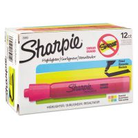 Sharpie Accent Tank Style Highlighter, Chisel Tip, Assorted Colors, 12/Pk SAN25053