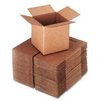General Supply Brown Corrugated - Cubed Fixed-Depth Shipping Boxes, 6l x 6w x 6h, 25/Bundle UFS666