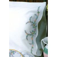 """Stamped Pillowcase Pair For Embroidery 20""""X30"""" NOTM242864"""