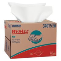 WypAll* X60 Cloths, BRAG Box, White, 12 1/2 x 16 7/8, 180/Box KCC34015