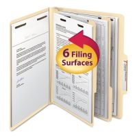 Smead Manila Classification Folders with 2/5 Right Tab, Letter, Six-Section, 10/Box SMD14000